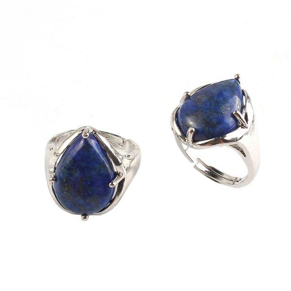 bague en argent et pierre naturelle de lapis lazuli