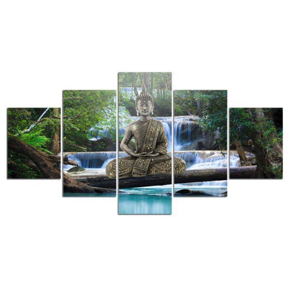 Toile de peinture de bouddha, affiche d'art murale, affiches et imprimés de décoration de maison 3