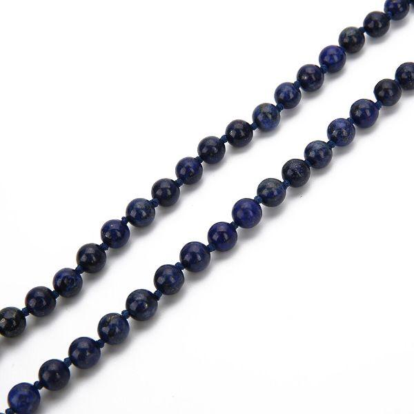 mala en perle de lapis lazuli bleu