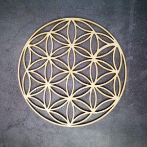 Géométrie Sacré en bois<br> Fleur de vie circulaire