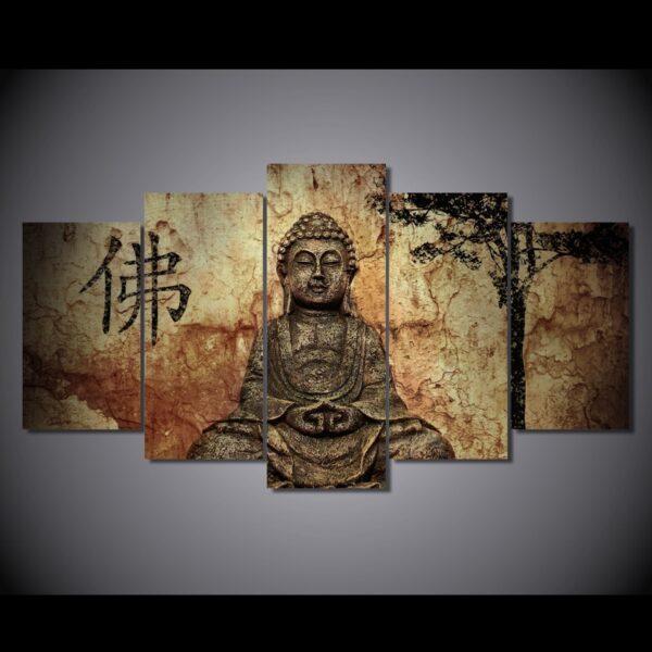 Tableau Bouddha Sage Décoration Bouddhiste 3