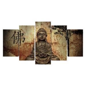 tableau bouddha en méditaion