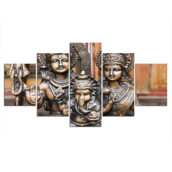 Peinture sur Toile Bouddhiste en Bronze 3