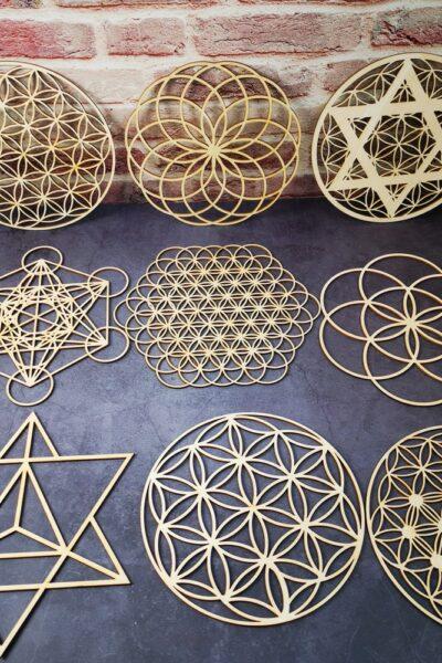 Géométrie Sacré en bois Étoile revitalisante 2