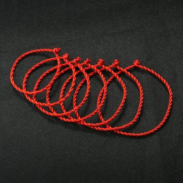 Fil rouge chaîne Bracelet pour femmes Simple chanceux à la main armure corde Bracelet hommes mode Couple bijoux amoureux cadeau Bracelet 1