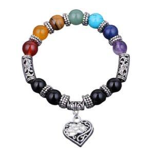 Bracelet 7 chakras Amour et Vitalité