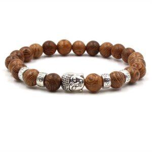 Bracelet Bouddha perle de Bois