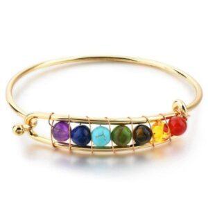 Bracelet Anneau 7 chakras