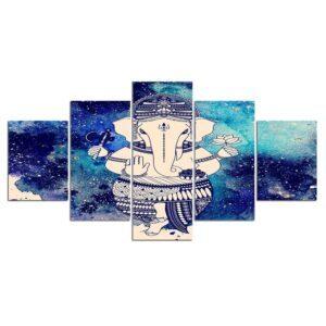 Toile de Peinture Sacré Eléphant Bouddhiste