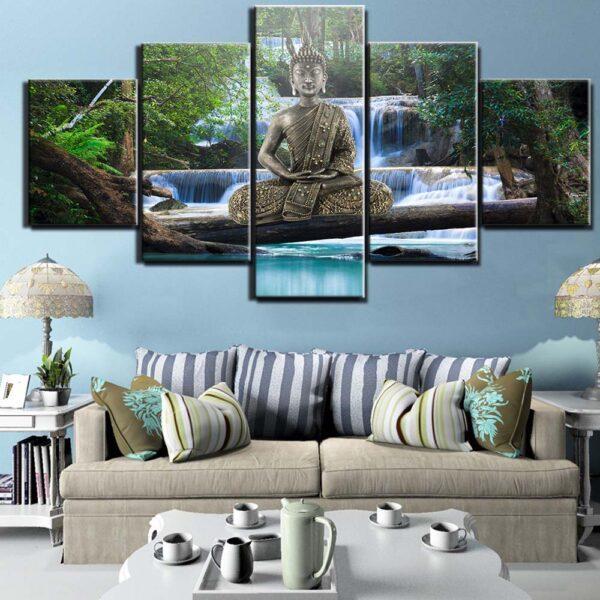 Toile de peinture de bouddha, affiche d'art murale, affiches et imprimés de décoration de maison 1