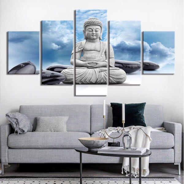 Tableau Bouddha Tête dans les nuages 2