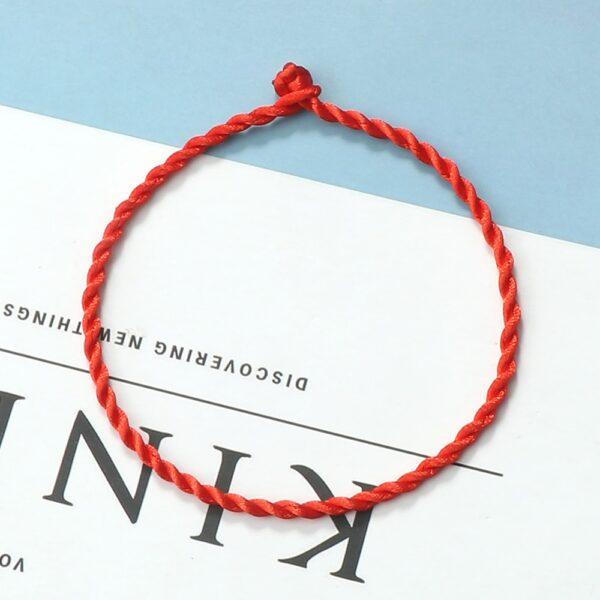 Fil rouge chaîne Bracelet pour femmes Simple chanceux à la main armure corde Bracelet hommes mode Couple bijoux amoureux cadeau Bracelet 3