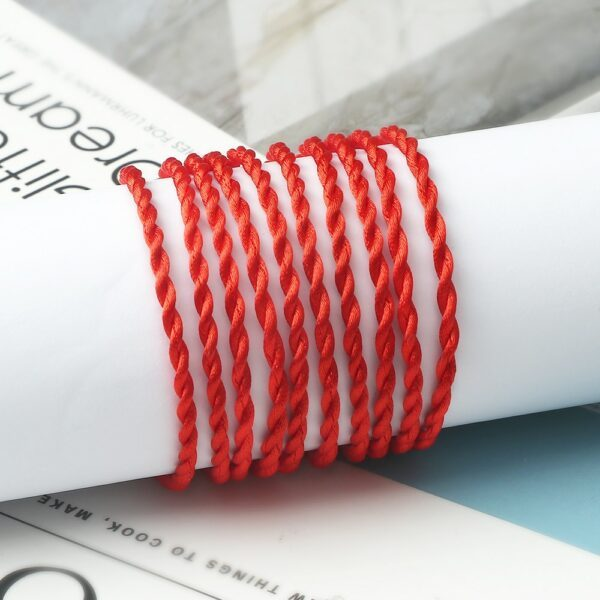Fil rouge chaîne Bracelet pour femmes Simple chanceux à la main armure corde Bracelet hommes mode Couple bijoux amoureux cadeau Bracelet 2