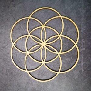 Géométrie Sacré en bois<br> Rosace Énergétique