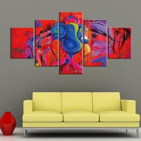 Penture sur Toile Éléphant Coloré 2