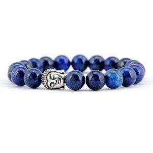 Bracelet Tête de Bouddha Lapis Lazuli