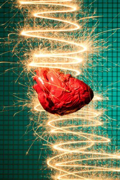 coeur rouge amour energie