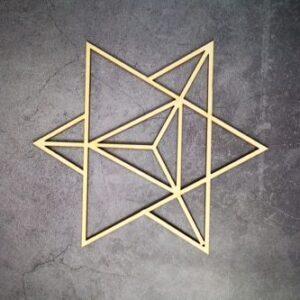 Géométrie Sacré en bois <br>Triple Triangle