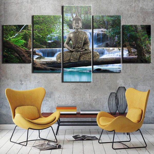 Toile de peinture de bouddha, affiche d'art murale, affiches et imprimés de décoration de maison 2