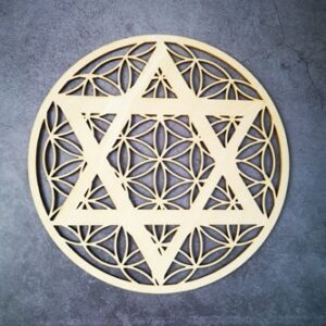Géométrie Sacré en bois<br> Étoile revitalisante