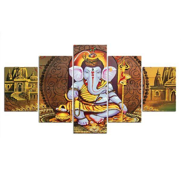 Tableau Hindouiste Éléphant sacré 3