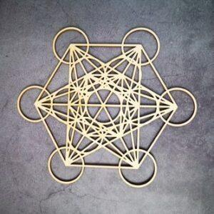 Géométrie Sacré en bois<br> Etoile Énergetique