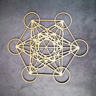 Géométrie Sacré en bois Etoile Énergetique 8