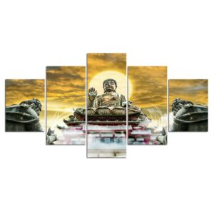 Tableau Statue Bouddha Evélation Spirituelle