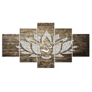 Affiche islamique, toile de peinture d'art mural, cadre photo, Décor de maison, 5 pièces 4