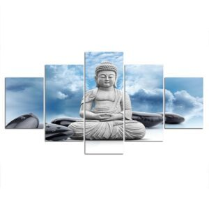 Tableau Bouddha Tête dans les nuages