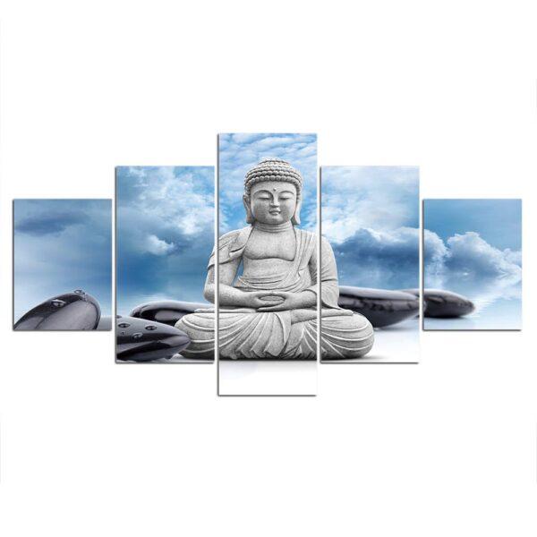 Tableau Bouddha Tête dans les nuages 3