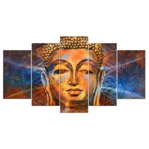 Tableau Visage de Bouddha Calme et Apaisement