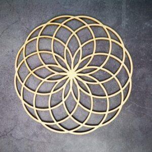 Géométrie Sacré en bois<br> Fleur de lotus