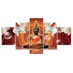 Table Esprit Bouddha Décoration Rouge 3