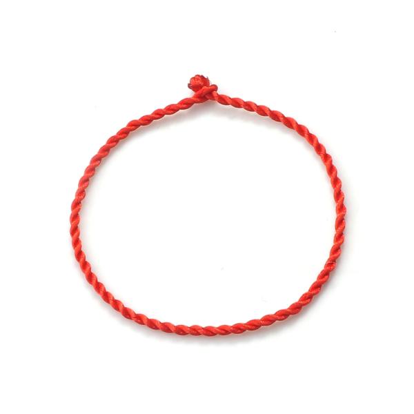 Fil rouge chaîne Bracelet pour femmes Simple chanceux à la main armure corde Bracelet hommes mode Couple bijoux amoureux cadeau Bracelet