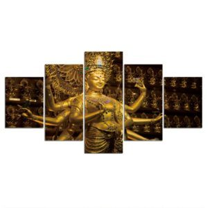 Tableau Bouddhiste Statue en Or