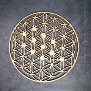 Géométrie Sacré en bois<br> Alignement 7 Chakras