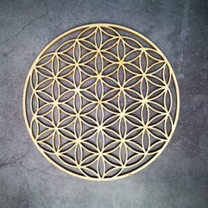 Géométrie Sacré en bois<br> Fleur de vie condensée