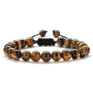 bracelet tibetain en oeil de tigre