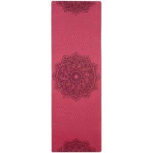 Tapis de Yoga Bordeaux Fleur de Lotus