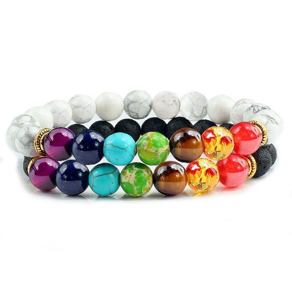 bracelet de couple 7 chakras