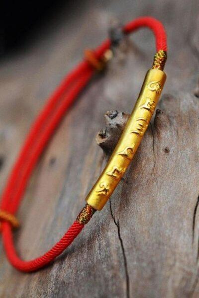 Bracelet-Mantra-Six-caract-res-en-argent-Sterling-corde-rouge-cadeaux-porte-bonheur-Bracelet-amoureux-de
