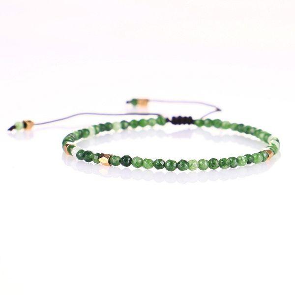 bracelet en tourmaline verte