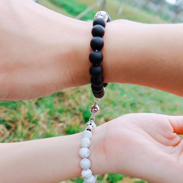 bracelet couple lithothérapie
