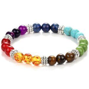 Bracelet 7 Chakras en pierre naturelle