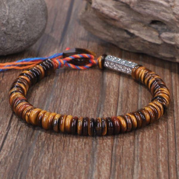 bracelet tibétain oail de tigre