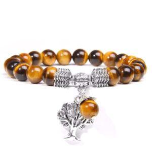 Bracelet Arbre de vie en pierre Oeil de Tigre