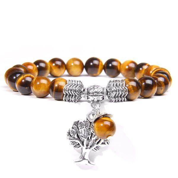 bracelet oeil de tigre et arbre de vie