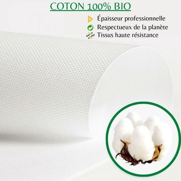 tissus en coton bio pour tableau