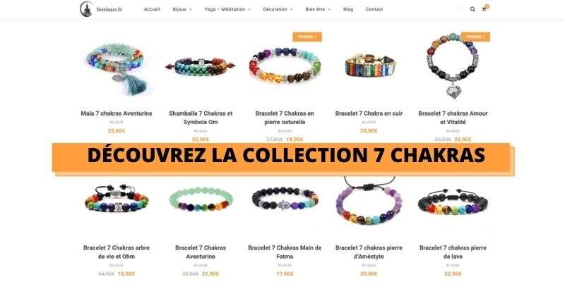 collection de bracelet 7 chakras
